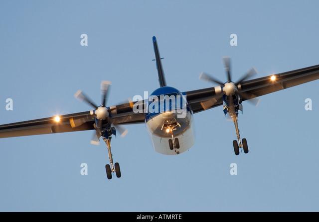 Turboprop regional airliner - Stock Image