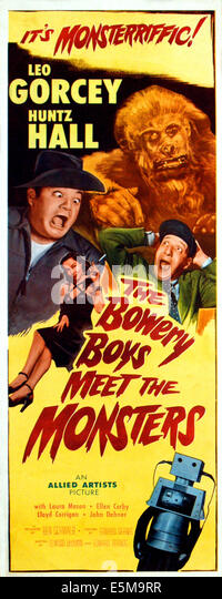 THE BOWERY BOYS MEET THE MONSTERS, top left: Leo Gorcey; mid-left: Laura Mason; top right: Steve Calvert (as the - Stock Image