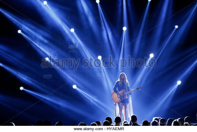 52nd Academy of Country Music Awards - Show - Las Vegas, Nevada, U.S., - 02/04/2017 - Miranda Lambert performs. - Stock Image