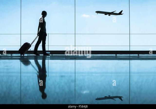 travel concept, people in the airport - Stock Image