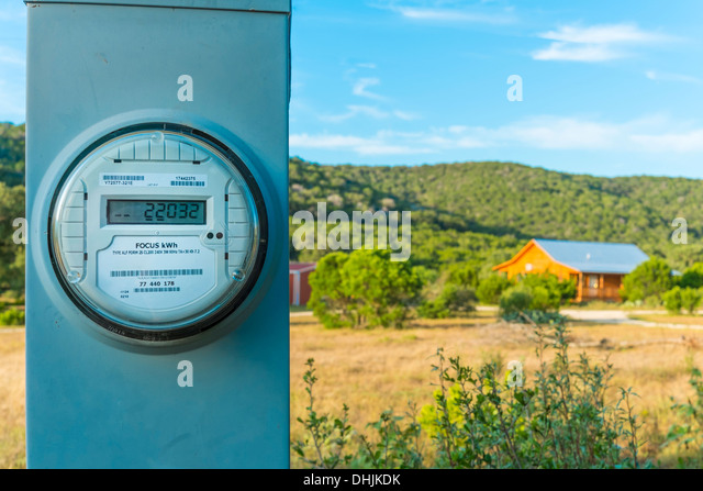 Outdoor Electricity Meter : Electric current meter stock photos