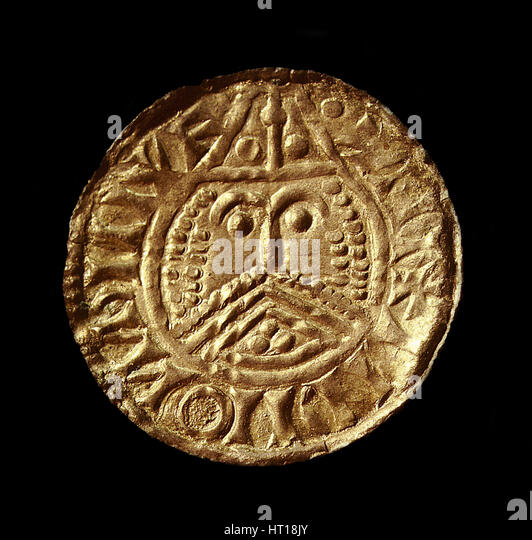 Viking coin minted in Ireland, 11th century. Artist: Numismatic, West European Coins - Stock Image