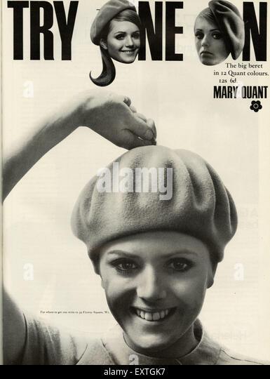 1960s UK Mary Quant Magazine Advert - Stock Image