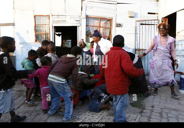 South Africa Port Elizabeth Township Stock Photos & South