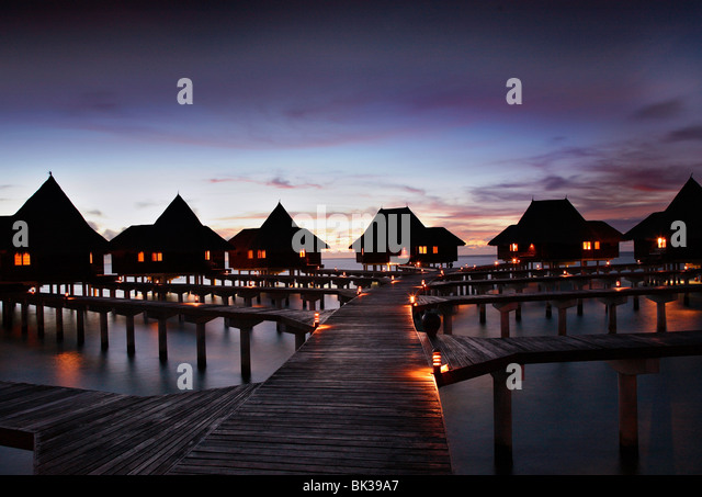 Coco Palm Resort at Dhuniu Kolu, Maldives, Indian Ocean, Asia - Stock-Bilder