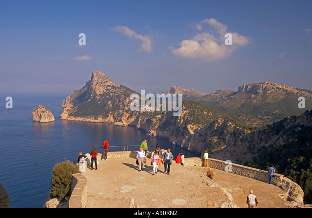Mallorca Cap Formentor view point - Stock Image