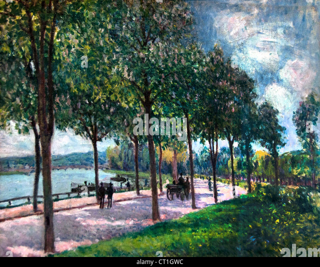 Allee of Chesnut Trees 1878 Alfred Sisley 1839 - 1899 British / French Impressionist - Stock Image