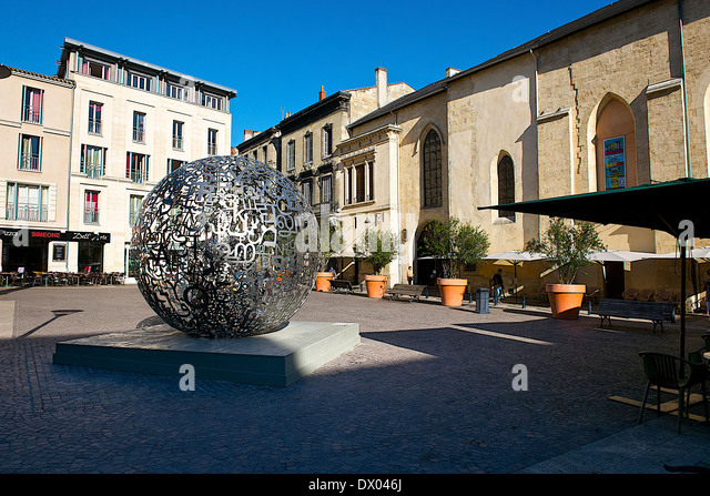 Artistic sphere in Bordeaux, France - Stock Image