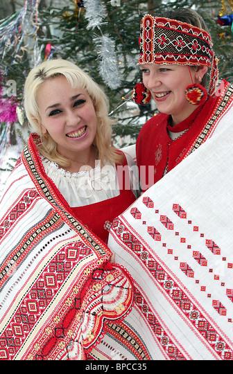 Lace made at Truzhenitsa Textile Factory, Ryazan Region - Stock Image