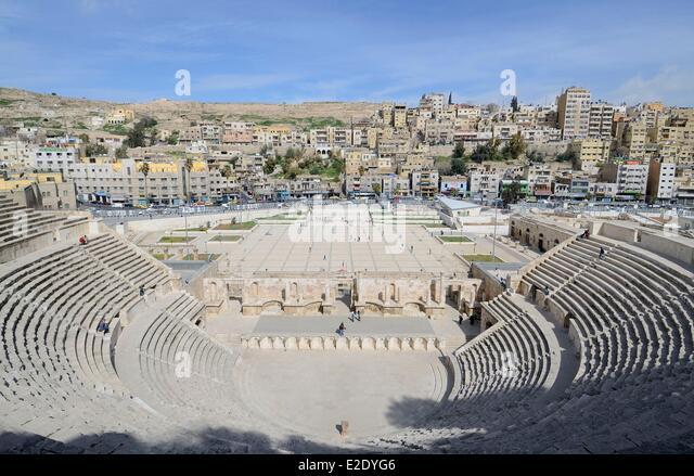 Jordan Amman governorate Amman the roman theatre - Stock Image