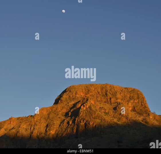 Naukluft Mountains in morning light, Namibia, Namib Naukluft National Park - Stock Image