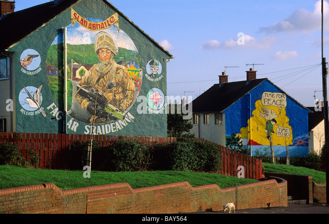 Northern ireland soldier stock photos northern ireland for Bloody bay wall mural