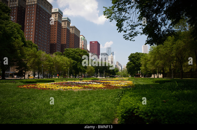Michigan ave downtown Chicago - Stock Image