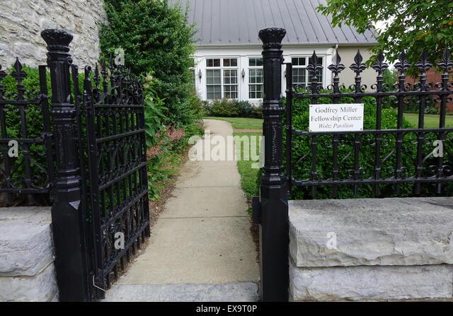 Entrance to the Godfrey Miller Fellowship Center, Old Town pedestrian mall, Winchester, Virginia - Stock Image