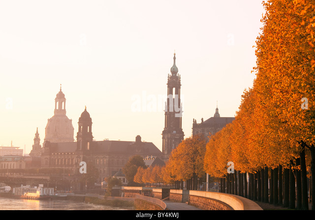 Germany,Saxony,Dresden, skyline view at dawn - Stock-Bilder