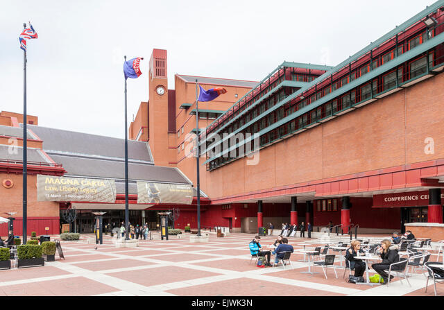 British Library, London, England, UK - Stock Image