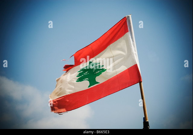 Lebanon Flag - Stock Image