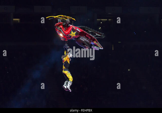 London, UK. 7th February, 2016. Nitro Circus Live  at The O2 Arena on Febuary  7th, 2016 in London England.  Credit: - Stock Image