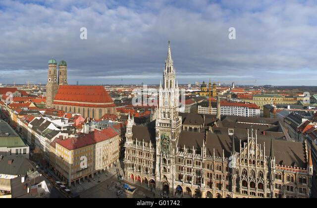 Munich Marienplatz - Stock-Bilder