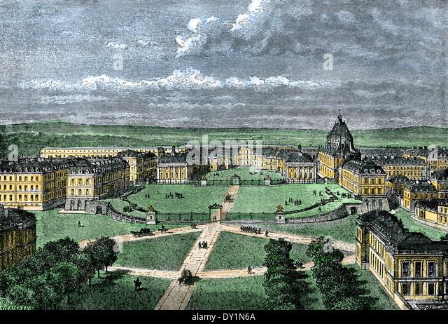 Versailles Palace outside Paris, France. - Stock Image