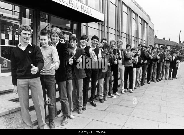 Swopping the prospect of the dole queue and falling in line for work are these 29 council apprentices. The lucky - Stock Image