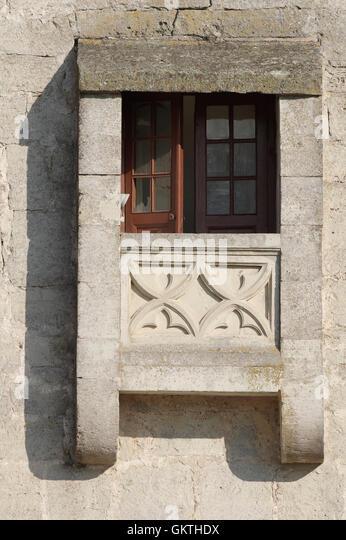 Window. Medieval Kuressaare castle (Linnus). Island Saaremaa. Estonia - Stock Image