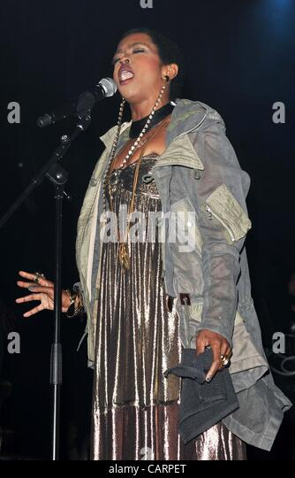 London - Lauryn Hill performs at Indigo O2, London - April 15th 2012  Photo by People Press - Stock-Bilder