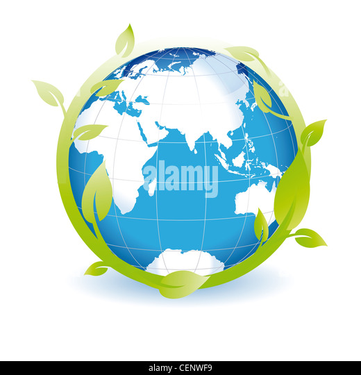 Green globe you can use on earth day - Stock Image