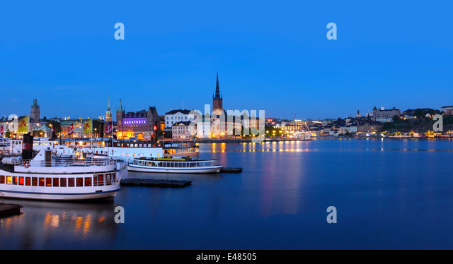 View of Stockholm city - Stock Image