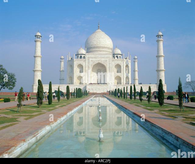 The Taj Mahal, Agra, Uttar Pradesh State, India - Stock-Bilder