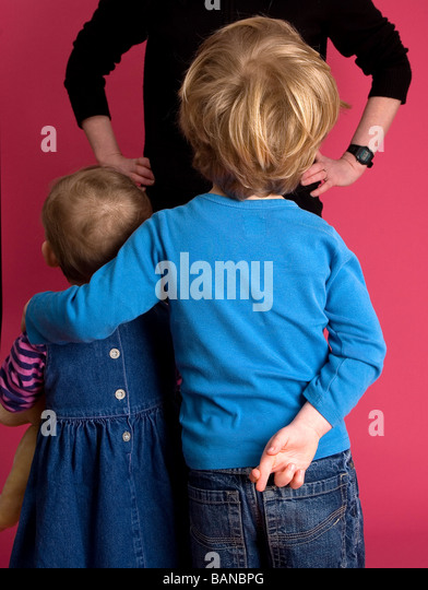 Lying Children - Stock Image