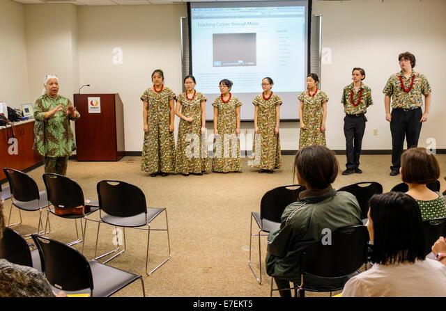 Hawaii Hawaiian Honolulu Hawaii State Art Museum Foundation on Culture and the Arts ArtLunch The Hawaii Youth Opera - Stock Image