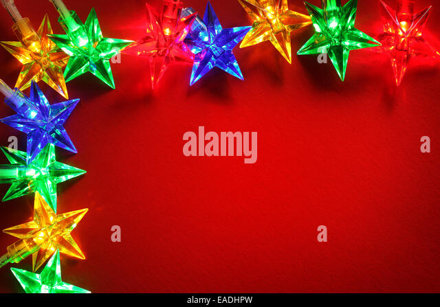 Christmas lights background - Stock Image