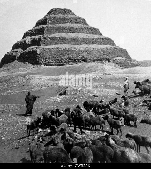 The Step Pyramid, photograph 1896 - Stock Image
