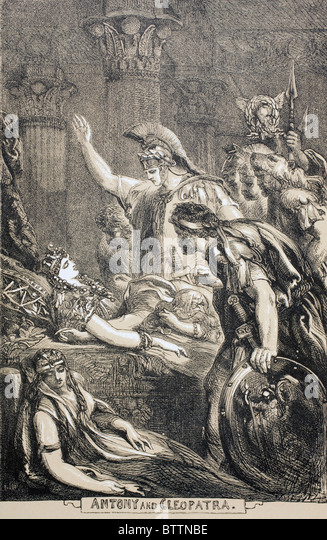 Illustration for Antony and Cleopatra by William Shakespeare. - Stock Image
