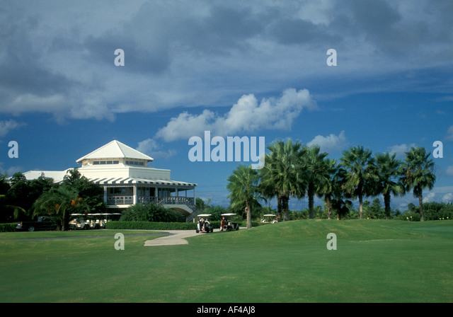 Turks and Caicos Providenciales Provo Golf Club clubhouse - Stock Image