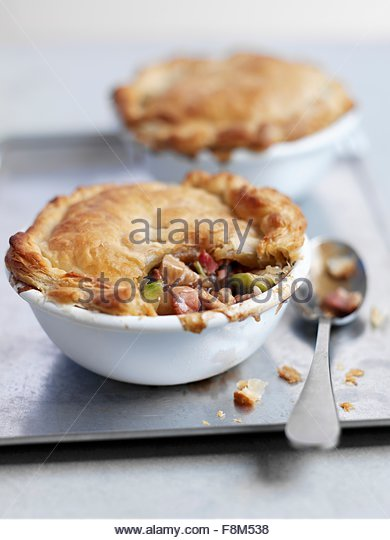 Pot pie with turkey - Stock Image