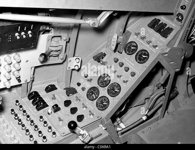 Northrop HL-10 lifting body cockpit - Stock Image