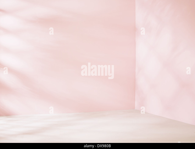 Small empty place in pink tone - Stock Image