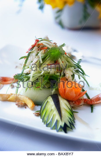 Close up of crab entree - Stock Image