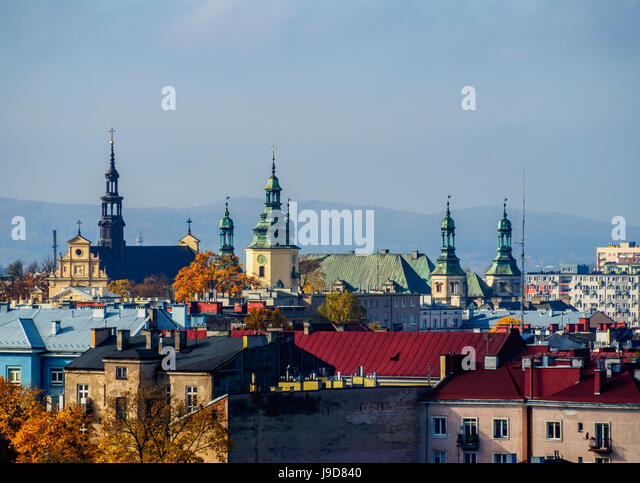 Cityscape, Kielce, Swietokrzyskie Voivodeship, Poland, Europe - Stock Image