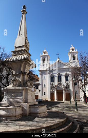 St. Paul's Church (Igreja Paroquial de Sao Paulo de Lisboa), St. Paul's Square (Praca de Sao Paulo), Lisbon, - Stock Image