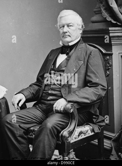 Millard Fillmore (13th president of the United States). Image by Mathew B. Brady circa 1855-1865 - Stock Image