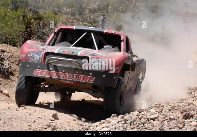 Jun 06, 2009 - Valle de la Trinidad, Baja Norte, Mexico - B.J. BALDWIN, 8th place finisher of Score Trophy Truck - Stock Image