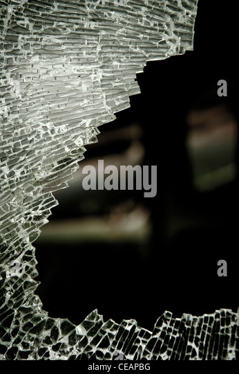 Broken glass - Stock Image
