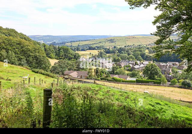 The plague village of Eyam Derbyshire England UK - Stock Image