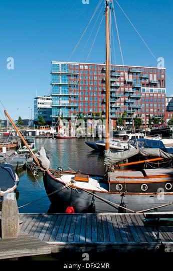 Westerdock Amsterdam Netherlands modern architecture - Stock Image