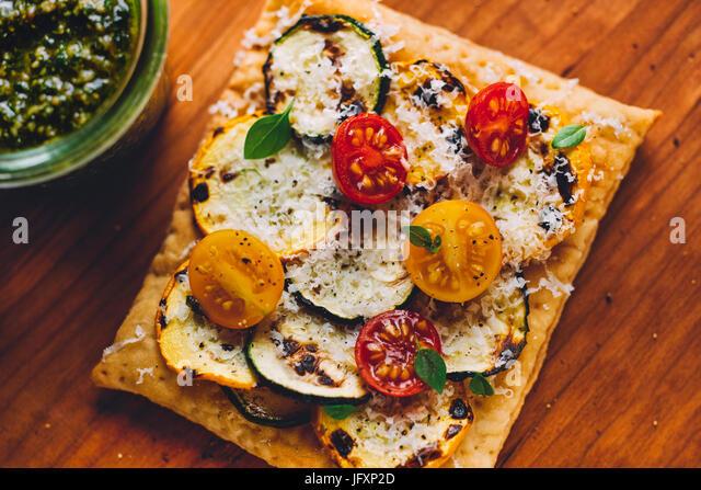 mini pizza pizza squares - Stock Image