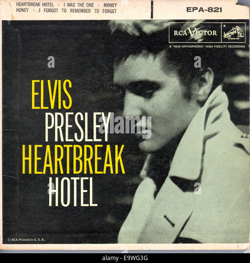 ELVIS PRESLEY SINGLE CIRCA 1950s. Courtesy Granamour Weems Collection.  Editorial use only. - Stock Image