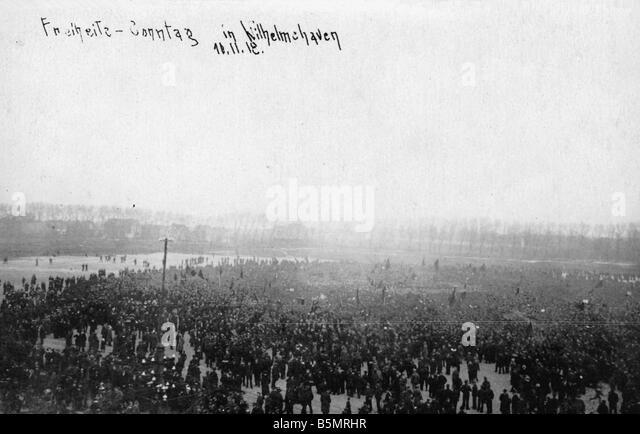 9 1918 11 10 A1 5 Nov Rev 1918 Wilhelmshaven Photo November Revolution 1918 Wilhelmshaven after the mutiny of sea - Stock Image
